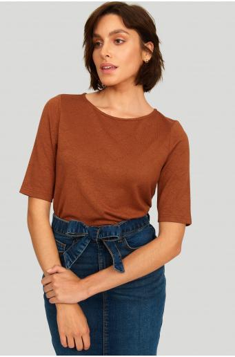 Dopasowany sweter z miękkiej dzianiny