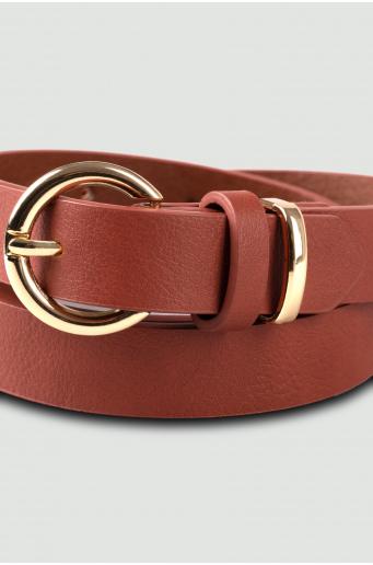 Klasyczny pasek z okrągłą klamrą