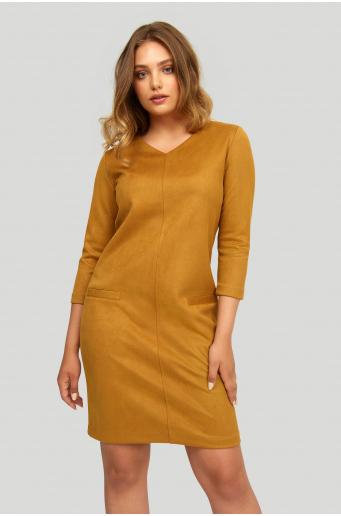 Luźna sukienka z miękkiej dzianiny