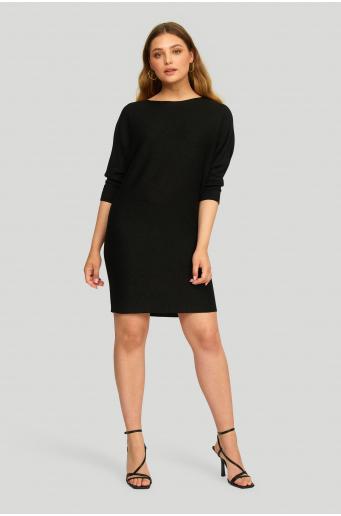 Dzianinowa sukienka z połyskującą nitką