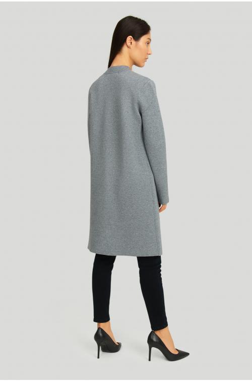 Płaszcz swetrowy