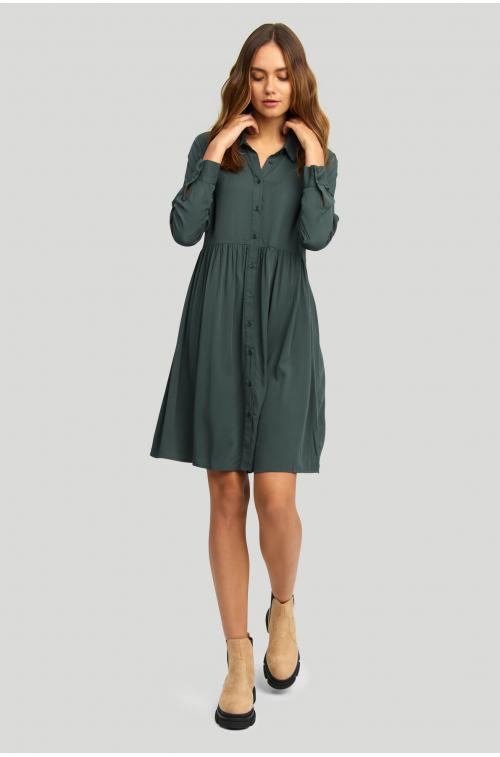 Luźna, wiskozowa sukienka