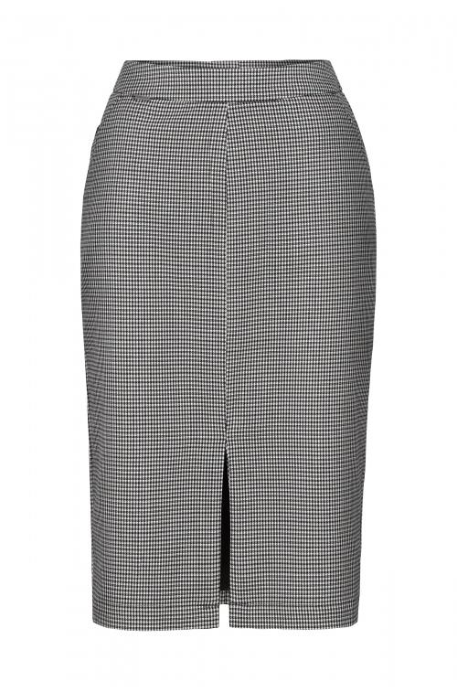 Ołówkowa spódnica w kratkę