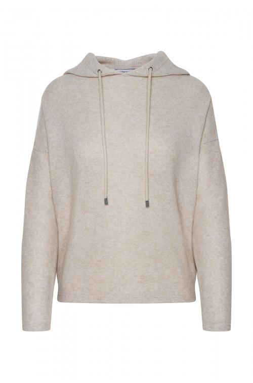 Sweter z kapturem z miękkiej dzianiny