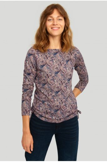 Sweter z miękkiej dzianiny z nadrukiem
