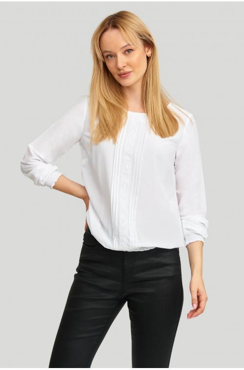 Elegancka bluzka z zakładkami
