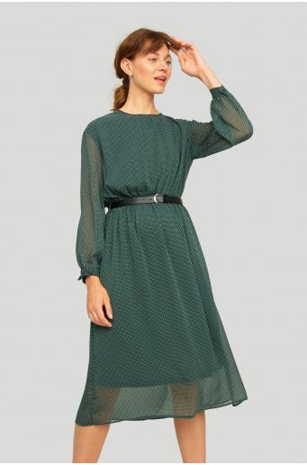 Szyfonowa sukienka z nadrukiem