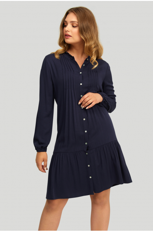 Wiskozowa sukienka z obniżonym stanem