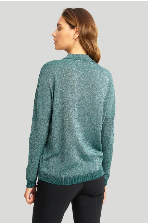 Elegancki sweter z połyskującą nitką