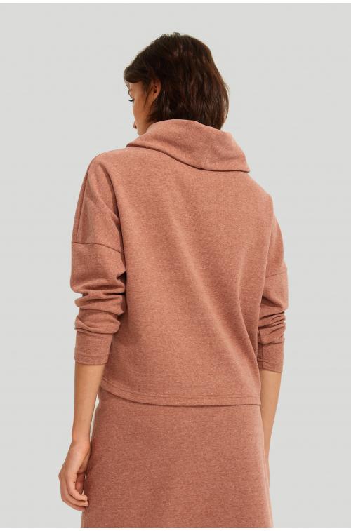 Bluza z golfem z dodatkiem włókien ekologicznych