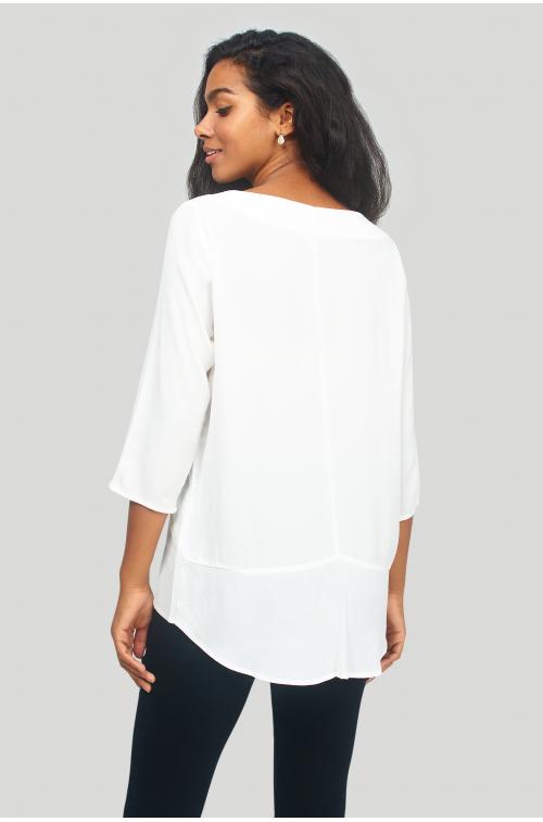 Klasyczna, wiskozowa bluzka