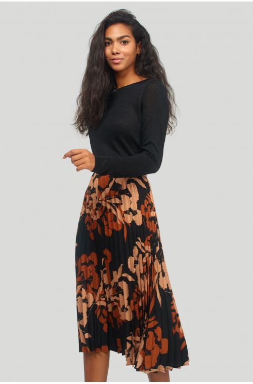 Plisowana spódnica z nadrukiem