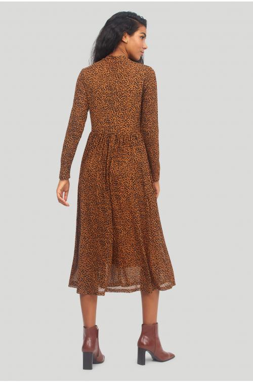 Dzianinowa sukienka z nadrukiem