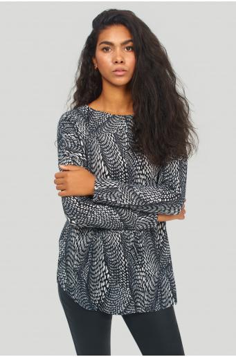 Tunika swetrowa z nadrukiem