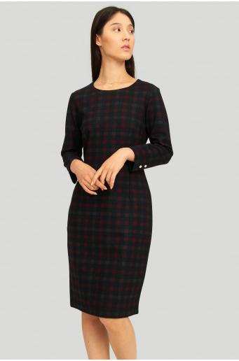 Dzianinowa sukienka z kratę