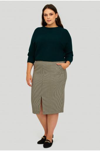Sweter o luźnym kroju w drobny prążek