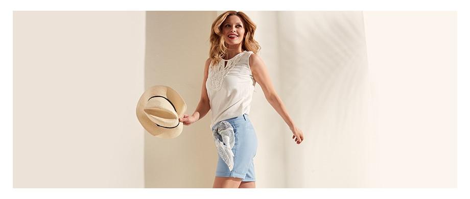 Białe bluzki na gorące lato